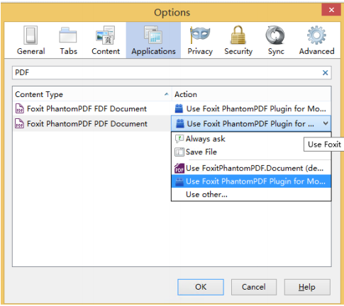Configure Firefox to Use Foxit PDF plug-in
