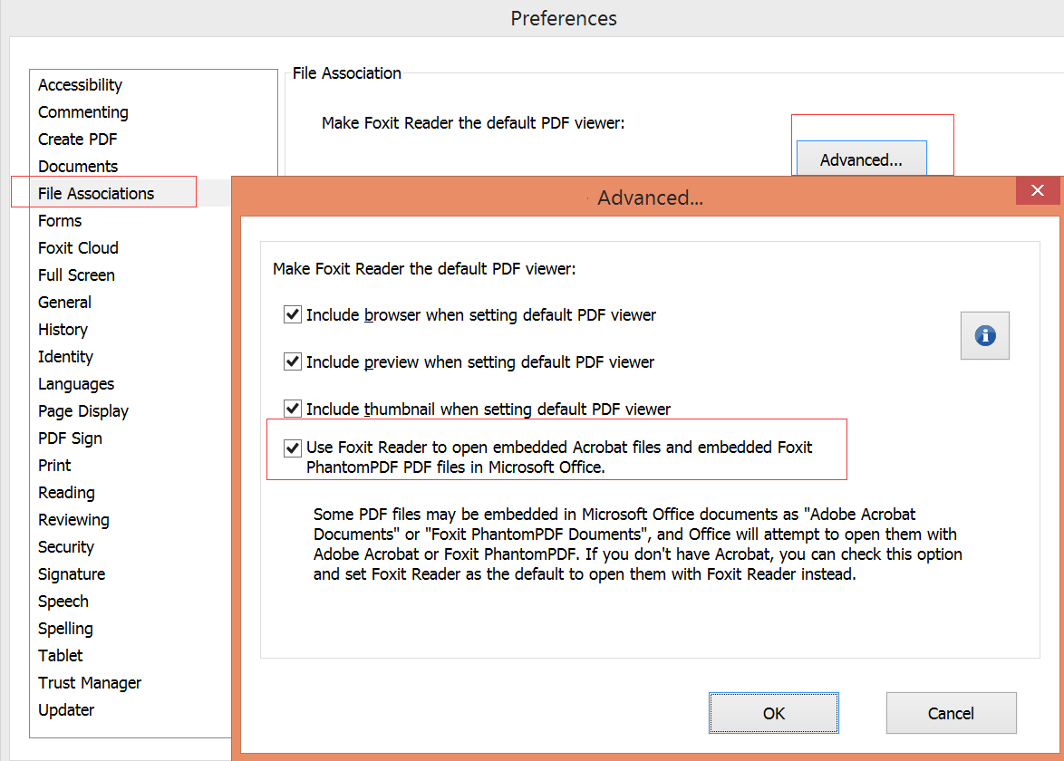 How to open embedded Acrobat files in Microsoft Office?