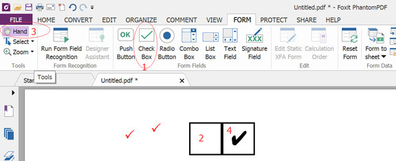 How To Input A Check Mark On A Page In Foxit