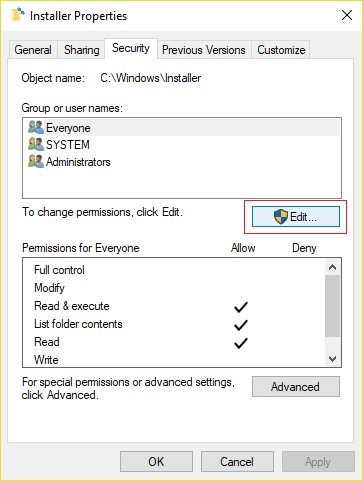 Fix Error 2502 and 2503 while installing or uninstalling