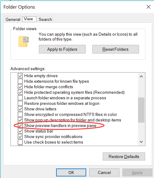 Why the Windows Explorer PDF preview stops working?