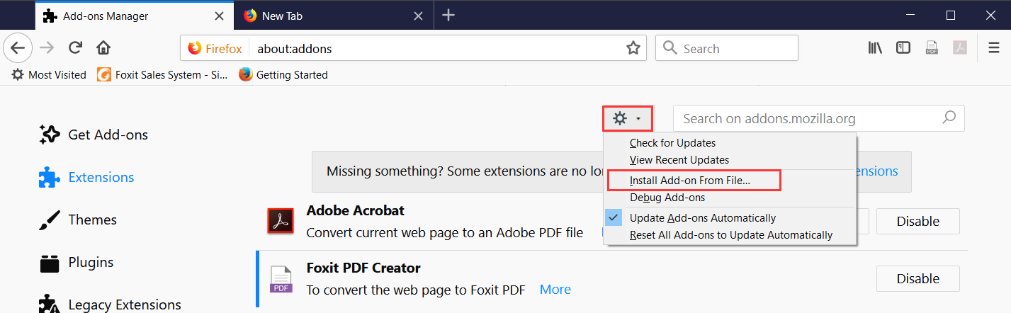 How to Enable Foxit PDF Creator Plug-in in Browser?
