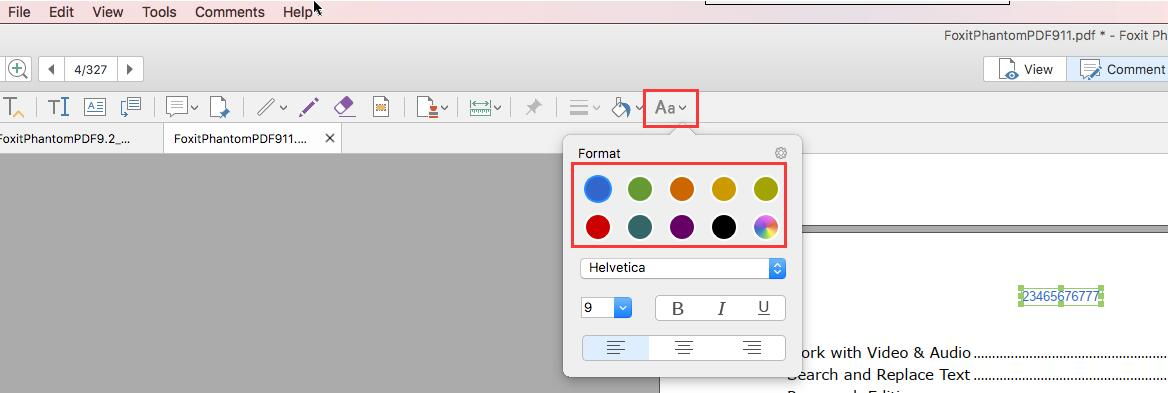 How to change the Font color of the typewriter